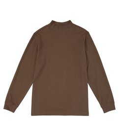 Roundtree & Yorke Long-Sleeve Solid Mock Neck