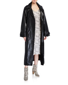 STAND Eliora Lamb Leather Trench Coat