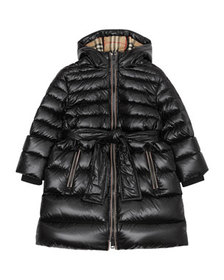 Burberry Girl's Sharona Long Puffer Coat, Size 3-1