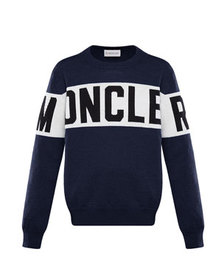 Moncler Logo Pullover Sweater, Size 8-14