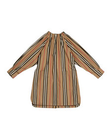 Burberry Girl's Melody Icon Stripe Shirt Dress, Si