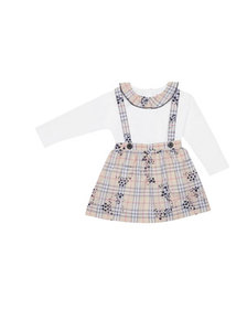 Burberry Girl's Sofia Check Star Print Suspenders