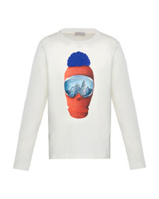 Moncler Long-Sleeve Graphic T-Shirt, Size 8-14