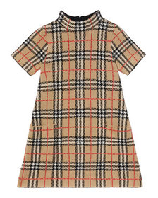 Burberry Girl's Denise Jacquard Check Turtleneck D