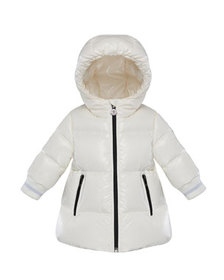 Moncler Gliere Hooded Puffer Coat, Size 12M-3