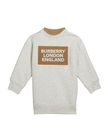 Burberry Girl's Fabbio Sweatshirt w/ Logo Patches,