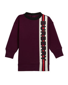 Burberry Girl's Letisha Striped Logo Sweatshirt Dr