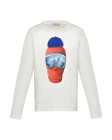 Moncler Long-Sleeve Graphic T-Shirt, Size 4-6