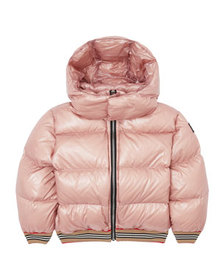 Burberry Girl's Josiah Short Puffer Coat w/ Icon S