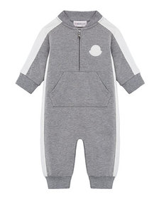 Moncler Heathered Coverall w/ Contrast Trim, Size
