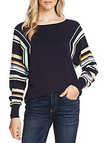 Vince Camuto Dolman-Sleeve Cotton-Blend Sweater CA