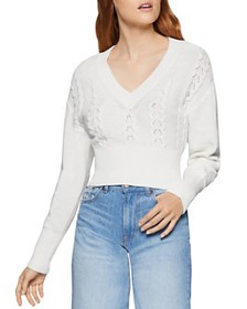 BCBGENERATION - Pointelle Cropped Sweater