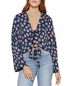 BCBGENERATION - Tie-Front Bell-Sleeve Top
