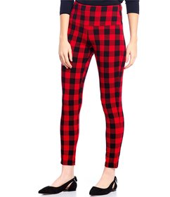 Intro Teri Love the Fit Buffalo Check Print Cotton