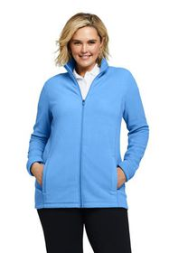 Lands End Women's Plus Size Full Zip Fleece Jacket