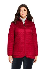 Lands End Women's Plus Size Quilted Insulated Jack