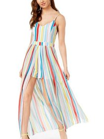 Xoxo Juniors Blue Multi Spaghetti Strap Beach Stri