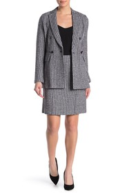 St. John Collection Contrast Geometric Button Fron