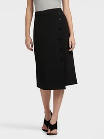 Donna Karan BUTTON DETAIL SKIRT