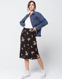 SKY AND SPARROW Floral Midi Skirt_
