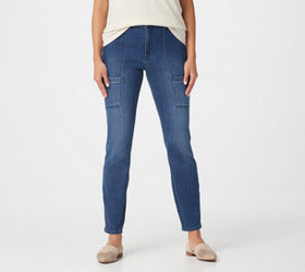 """As Is"" Susan Graver Regular High Stretch Denim Zi"