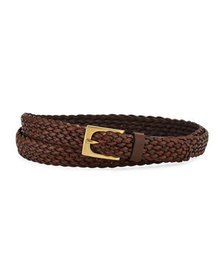 TOM FORD Men's Woven Leather Belt