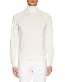 TOM FORD Men's Raglan-Sleeve Cashmere Turtleneck S