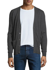 TOM FORD Men's Fine-Gauge Wool Button-Front Cardig
