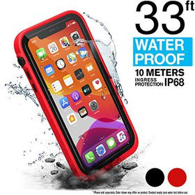 RED WATERPROOF CASE FOR IPHONE 11