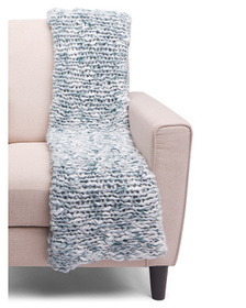 ASPEN Shepard Chunky Knit Marled Throw