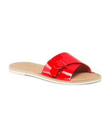 SPERRY Memory Foam Patent Leather Slide Sandals