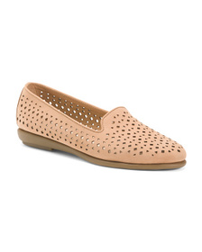 AEROSOLES Comfort Perforated Suede Moccasins