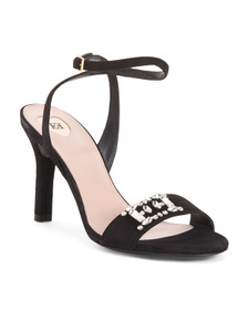 ESCADA Made In Italy Ankle Strap Suede Sandals