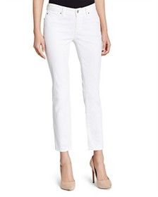 Eileen Fisher - System Skinny Ankle Jeans in White