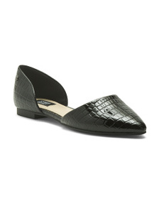 JONES NEW YORK Croc Embossed Flats