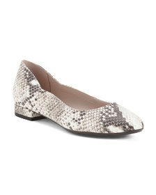 EASY SPIRIT Evolve Comfort Leather Snakeskin Embos