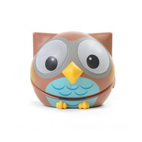 Compact Portable Bluetooth Stereo Speaker, Owl