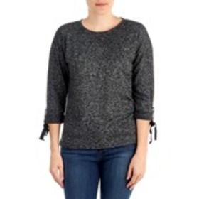 DAISY FUENTES Velvet Ribbon Cuff Pull Over Sweater