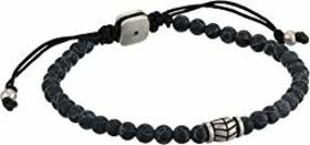 Fossil Black Beaded Bracelet