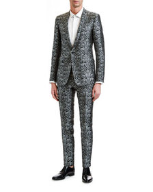 Dolce & Gabbana Men's Two-Piece Brocade Evening Su