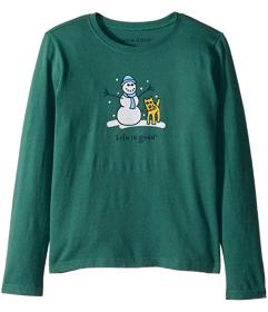 Life is Good Kids Snowman and Rocket Long Sleeve V