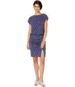 Nicole Miller Ditzy Stems Blouson Dress
