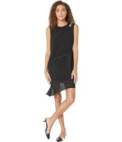 Nicole Miller Grommet Dress w\u002F Cut Out Should