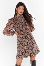 Nasty Gal Black Everything Will Be Bouquet Floral