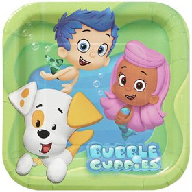 """7"""" Bubble Guppies Square Paper Party Plate, 8ct"""