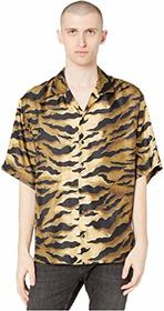 DSQUARED2 Tiger Camo Printed Silk Twill Shirt
