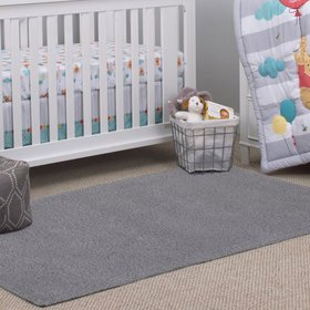 Little Love by NoJo Kids/Nursery Grey Shag Rug, 5'