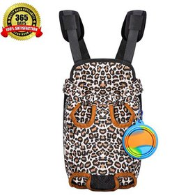 WALFRONT Pet Carrier Backpack for Small Dog Cat Pu