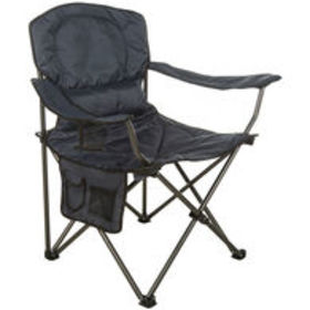 Padded Arm Chair, Oversized, Blue Polyester $44.99
