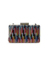 Nina Juliet Minaudiere Beaded Clutch MULTI